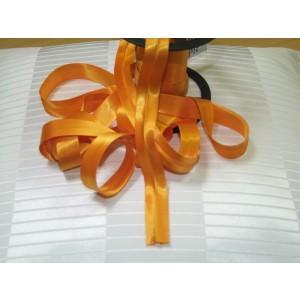 Šikmý prúžok saténový - oranžový 11
