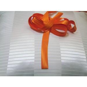 Šikmý prúžok saténový - oranžový 11A