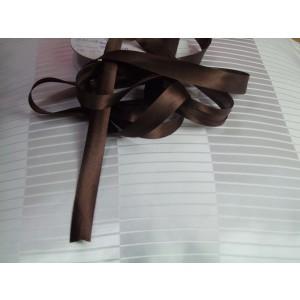 Šikmý prúžok saténový - Čokoládový 92J