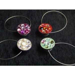 Magnetka brúsené sklo - okrúhla