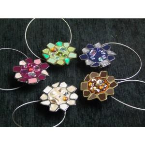 Magnetka brúsené sklo - kvet
