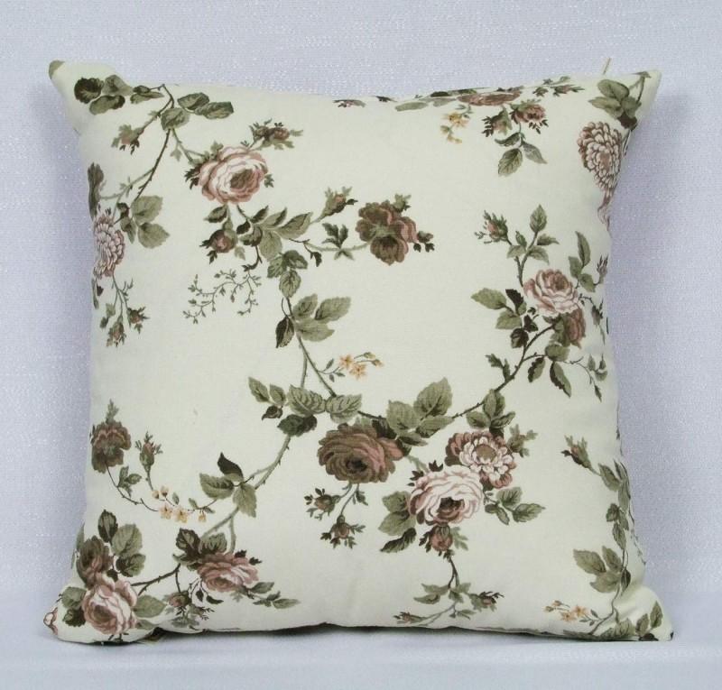 Dekoračný vankúš-bavlna potlač hnedá ruža