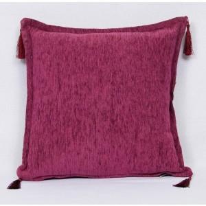 Dekoračny vankúš -poťah bordovo-fialový