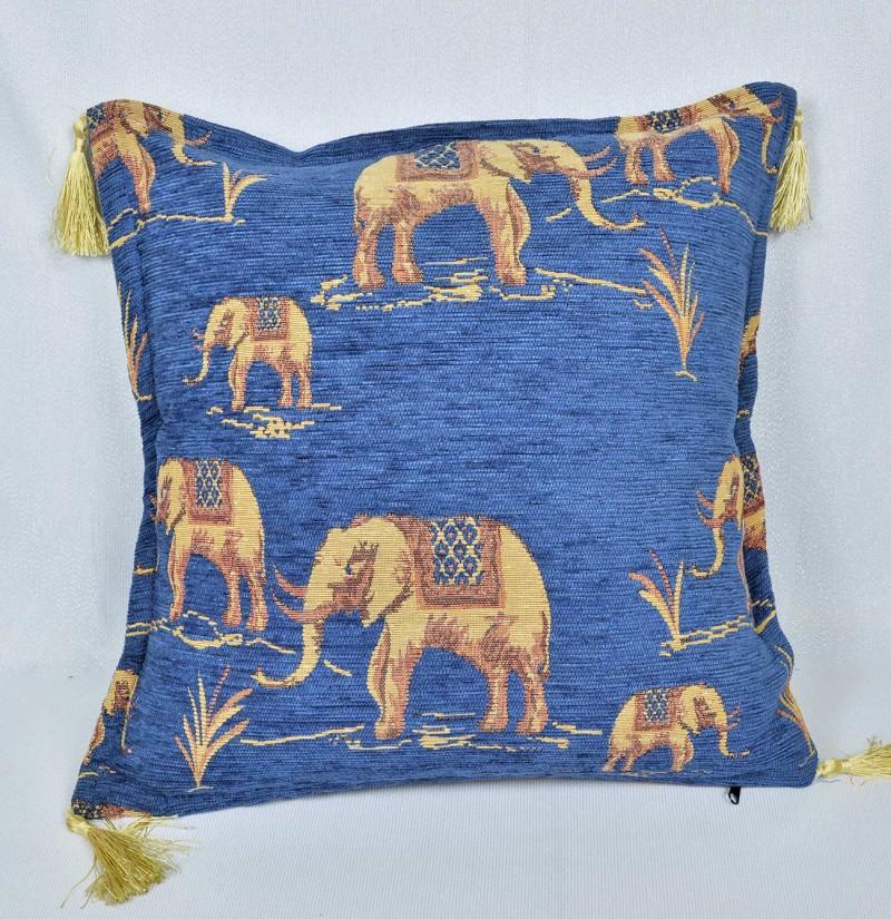 Vankúš Slon modrý-poťahová látka