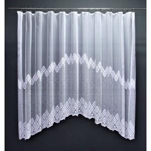 Záclona Retro biela oblúk