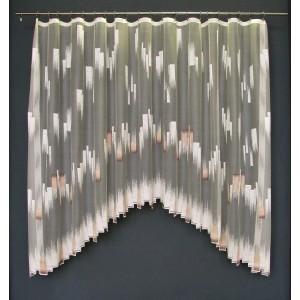 Záclona Oblúk kremovo-hnedý obdľžnik