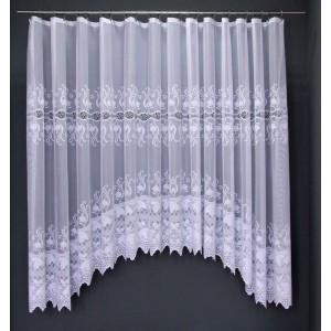 Záclona Marcela biela oblúk