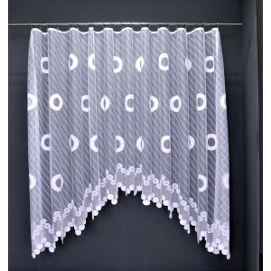Záclona Kristína biela oblúk