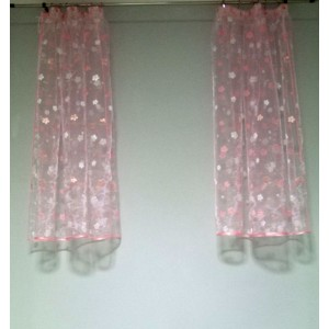 Záclona strihaná organza