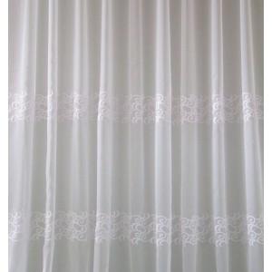 Záclona strihaná vyšívaná YAKA  biela